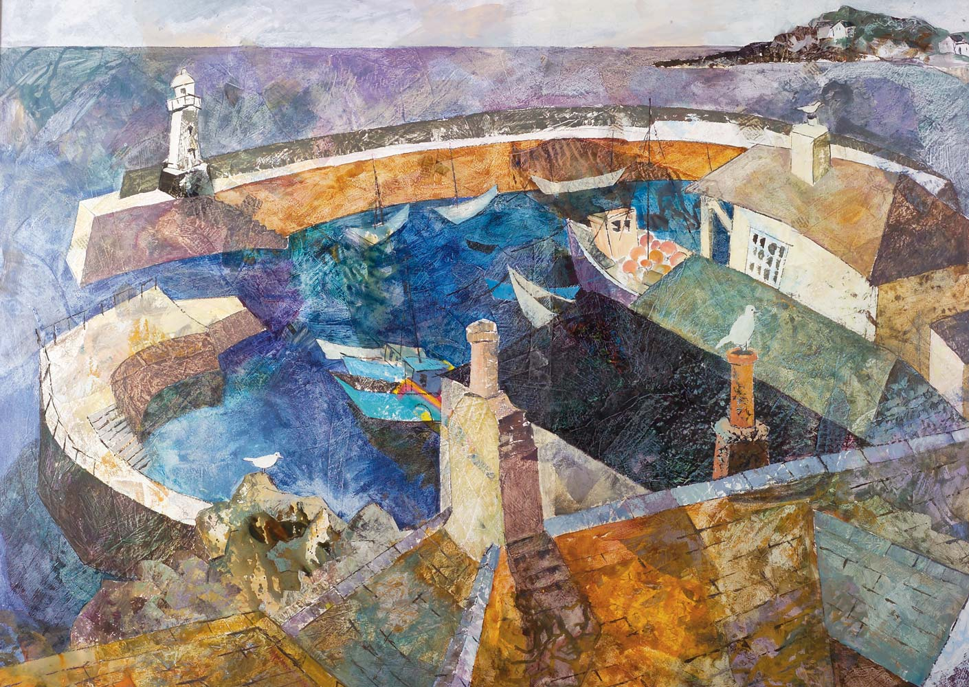 Looking down on Mevagissey harbour