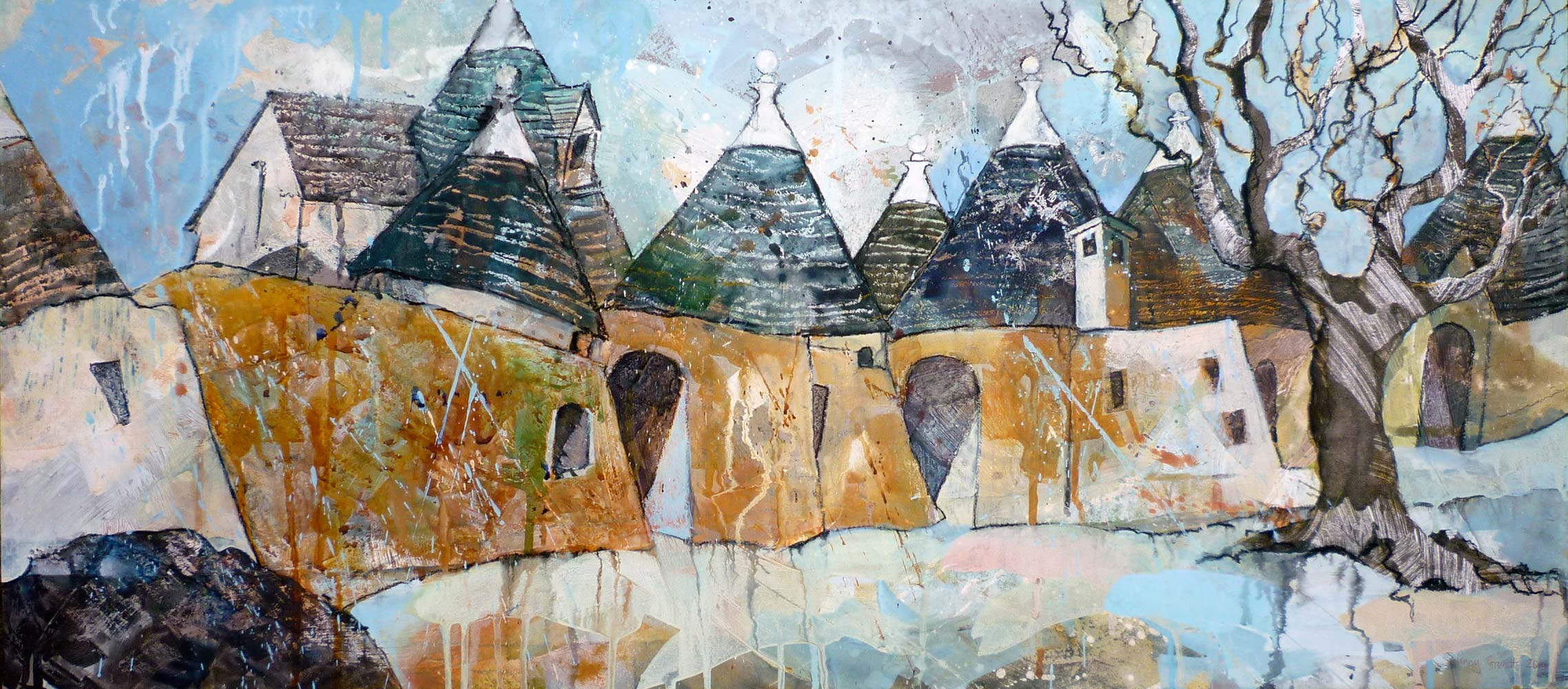 Trulli houses in a row