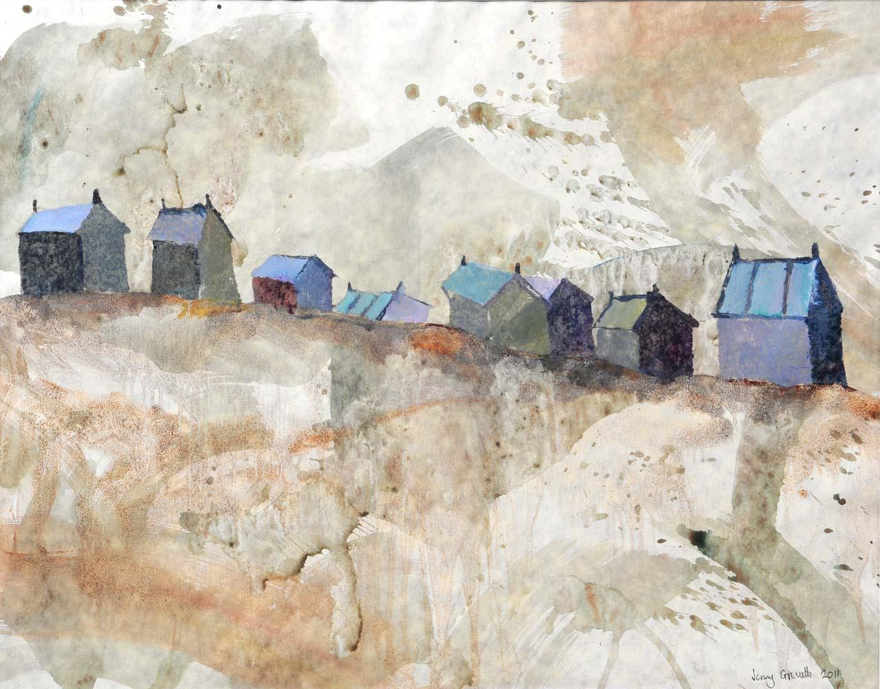 Huts on the dunes, Walberswick