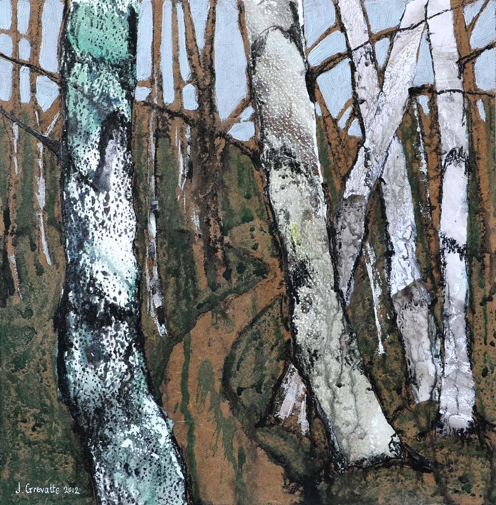 Path through the birch wood