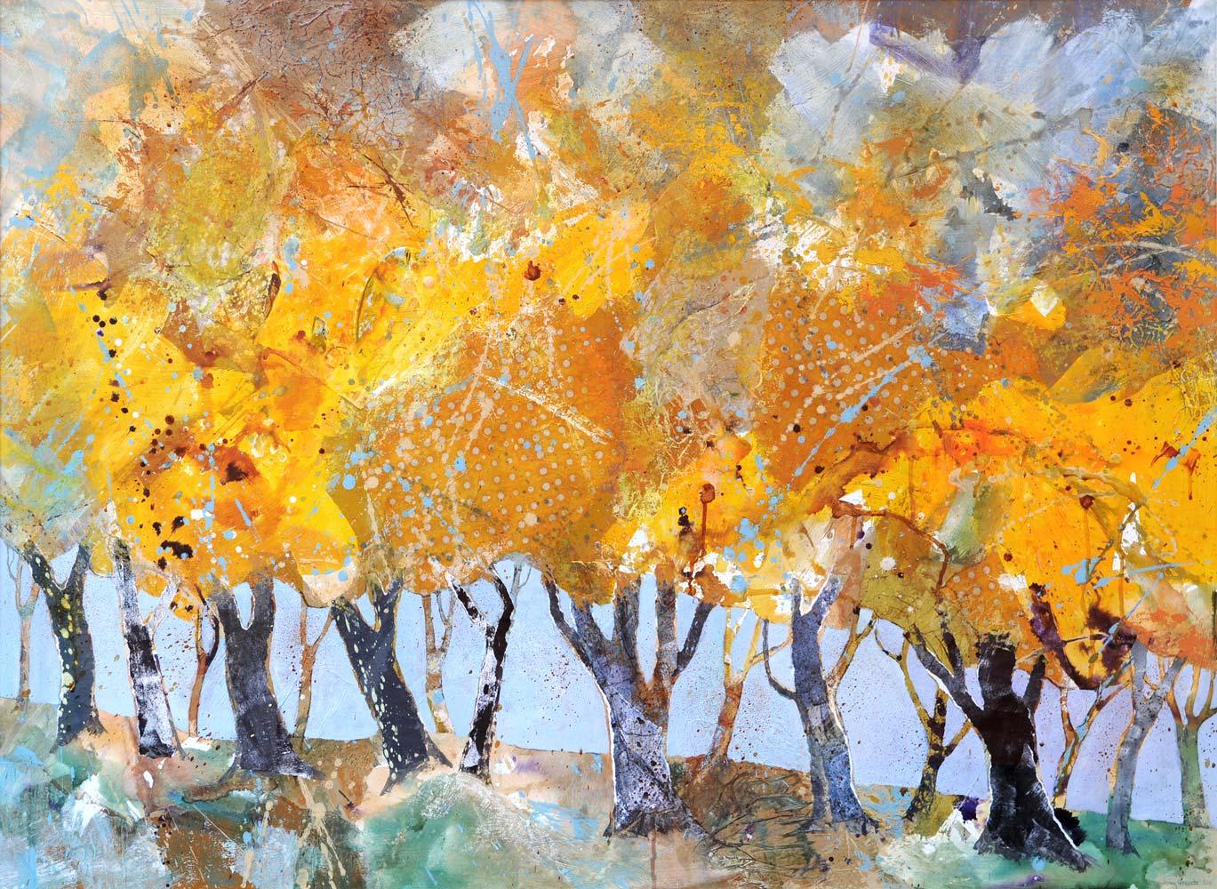 Row of trees, Autumn