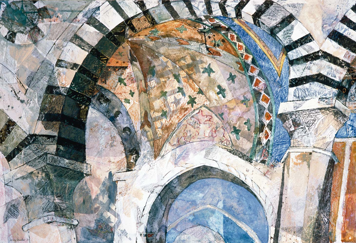 The interior of a Tuscan church