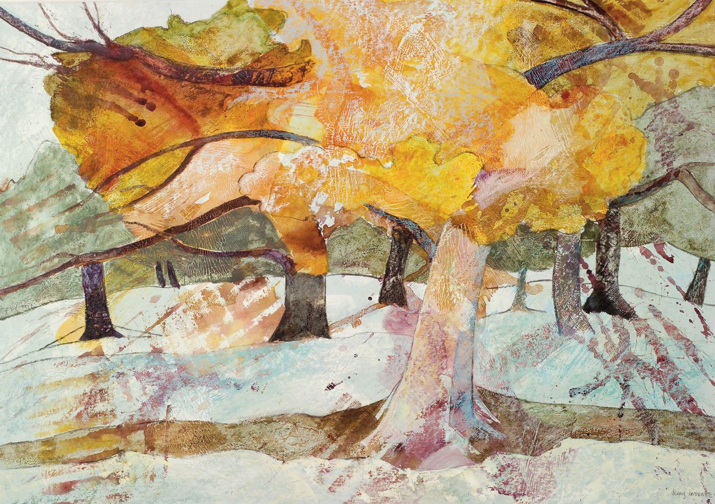 Ancient oak in the autumn