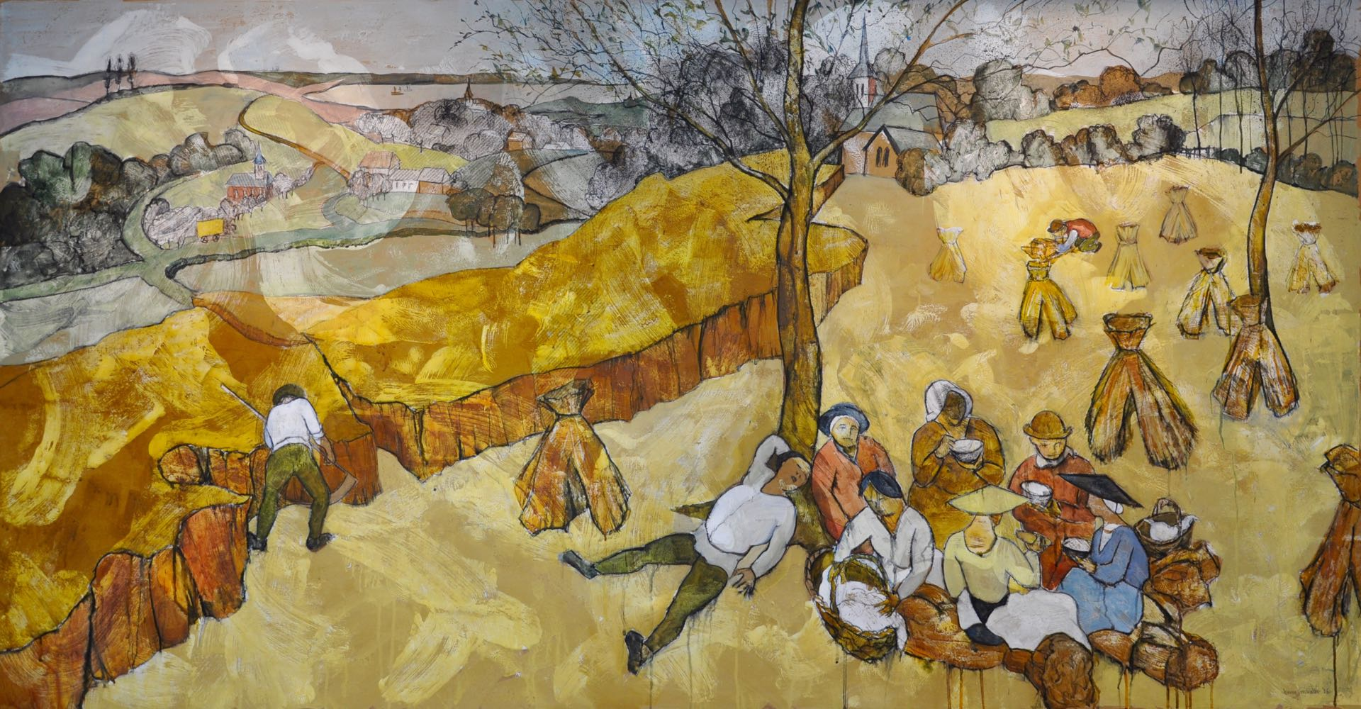 "After Bruegel's ""Harvesters"""