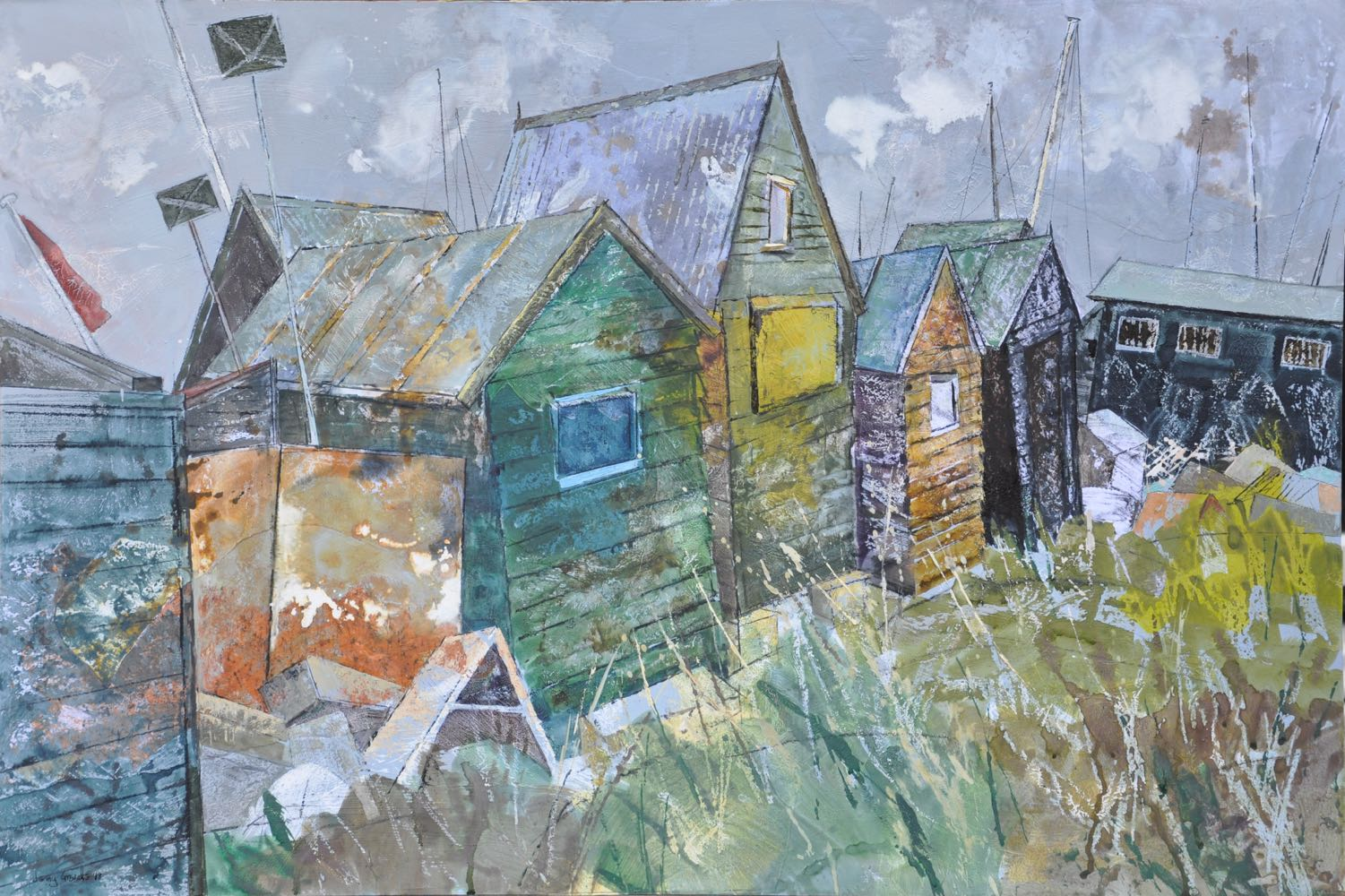 Group of huts, Southwold harbour