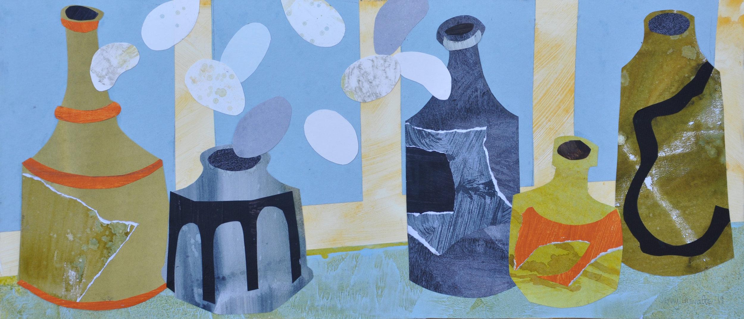 John's bottles in the studio