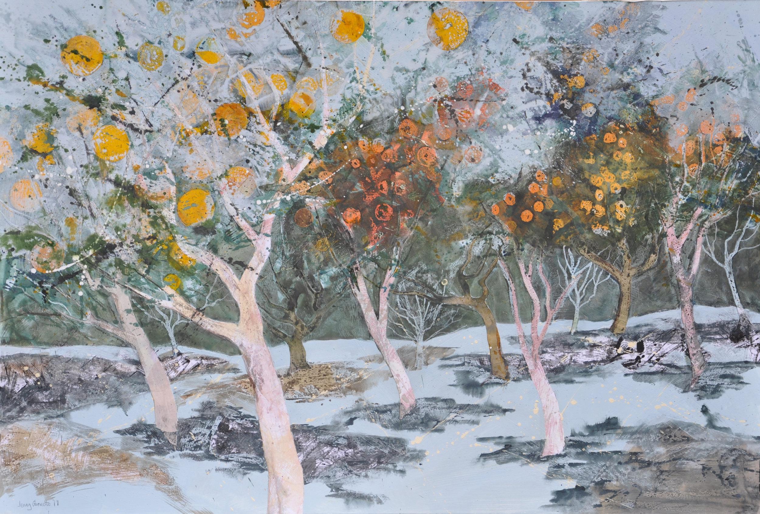 In amongst the orange trees, Crete