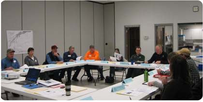 A water system emergency response tabletop exercise held in Biron, Wisconsin