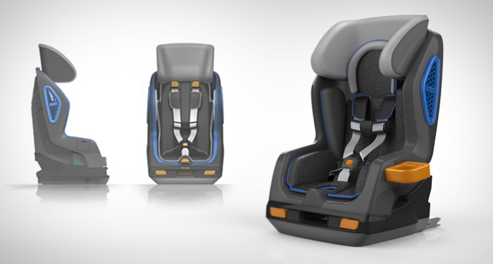 FIRST SEAT CRUMPLE ZONE SAFETY SYSTEM