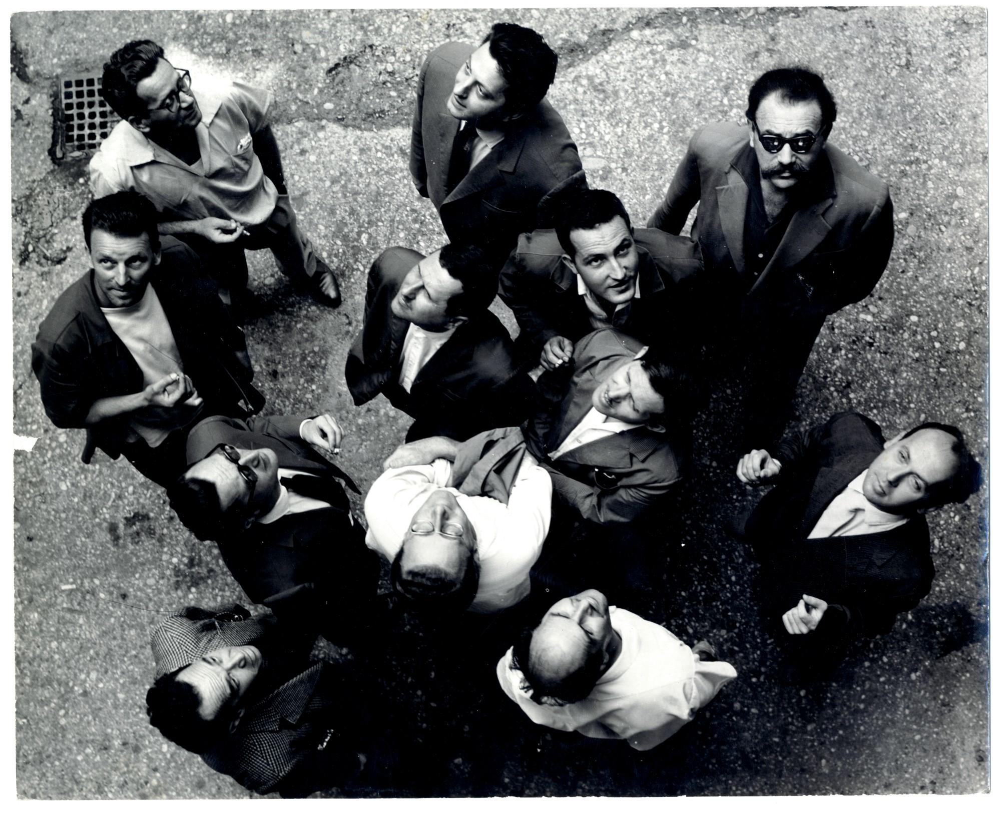 Gorgona Group, Gorgona is Looking at the Sky, 1961, bw photograph, collective work,242 x 299 mm, photographer Branko Balić.