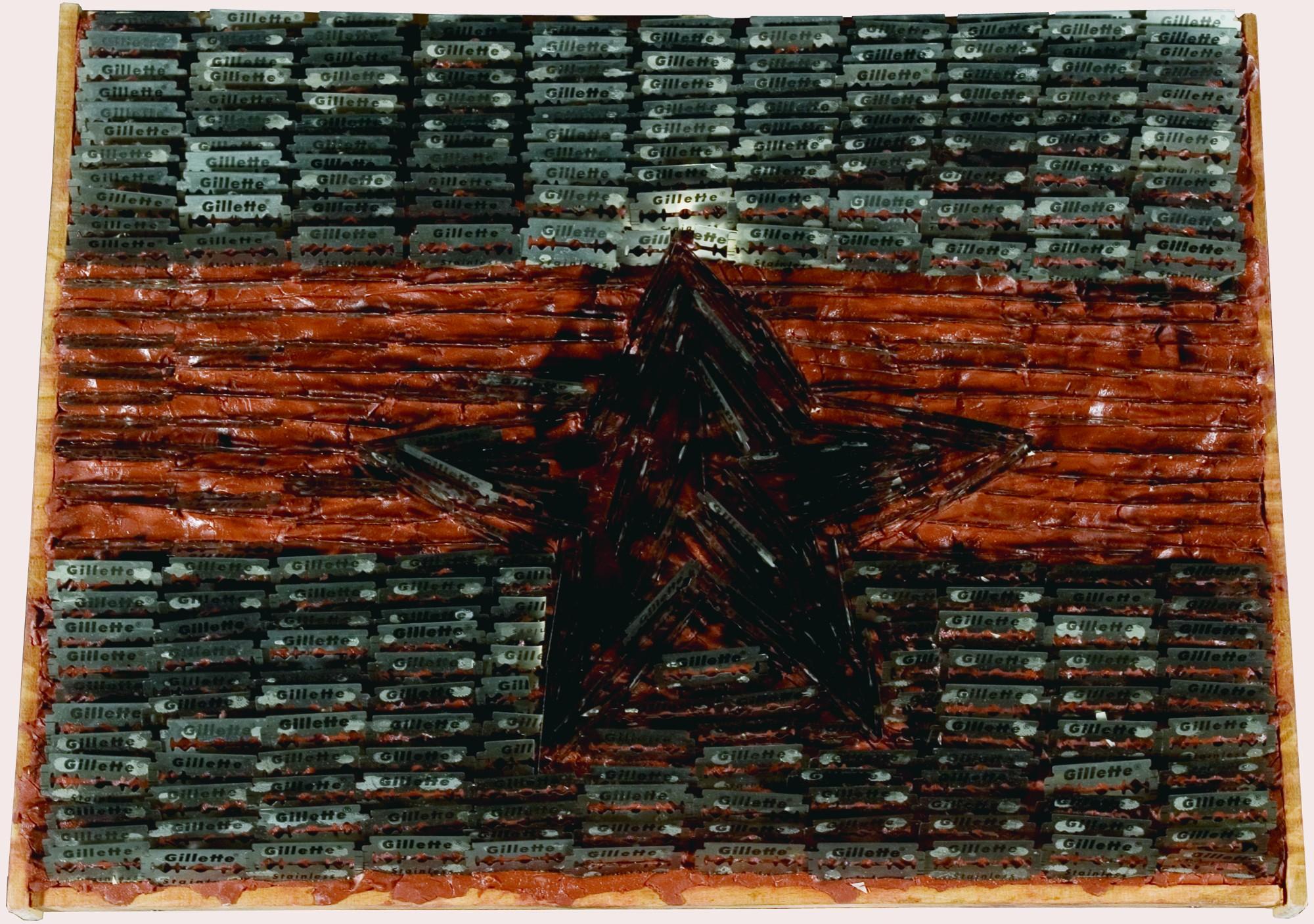 Sven Stilinović, Flag, 198485, mixed media, 350 x 470 mm.