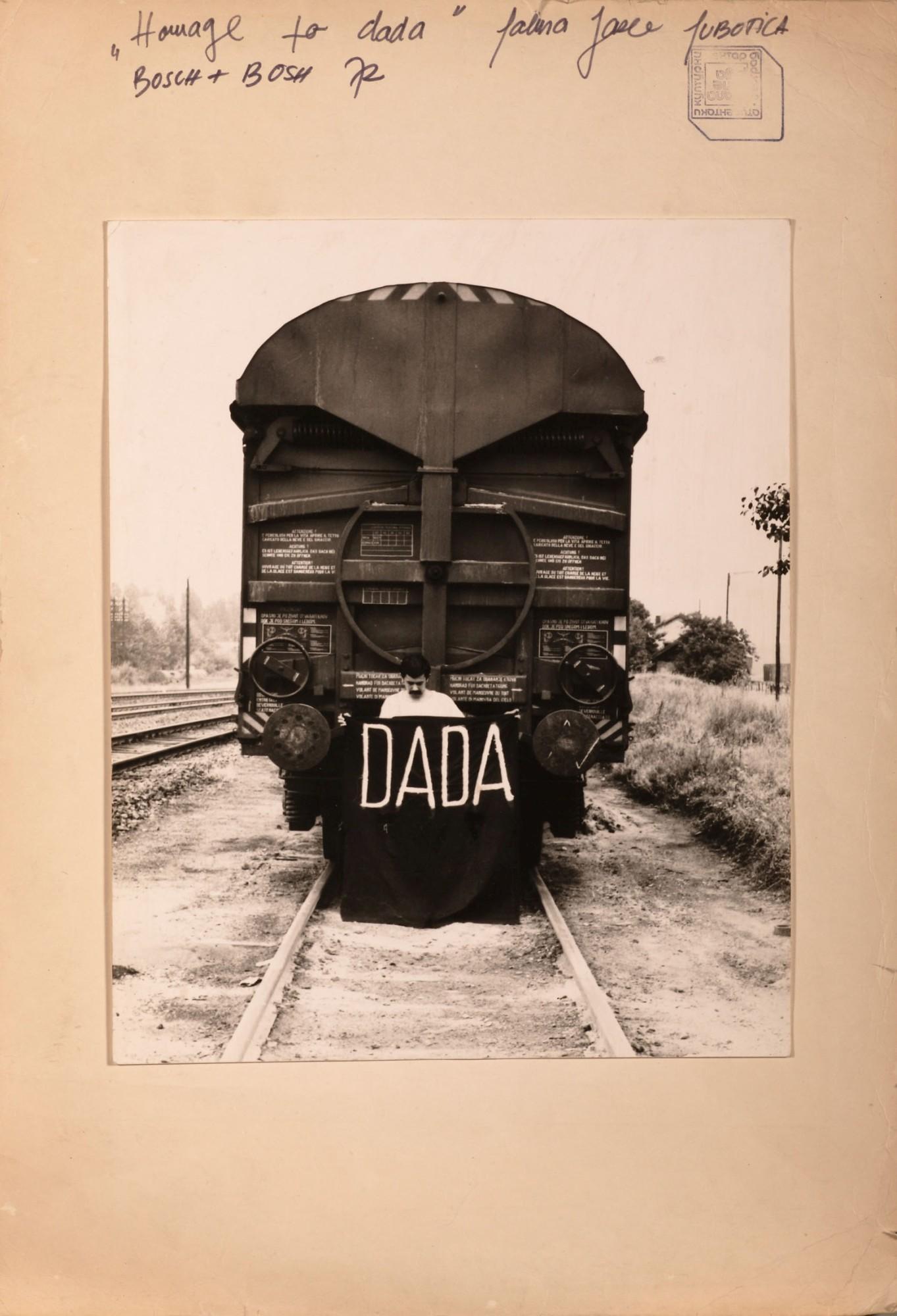 László Szalma (BOSCH+BOSCH), Hommage to Dada, 1972, collage, 470 x 323 mm.