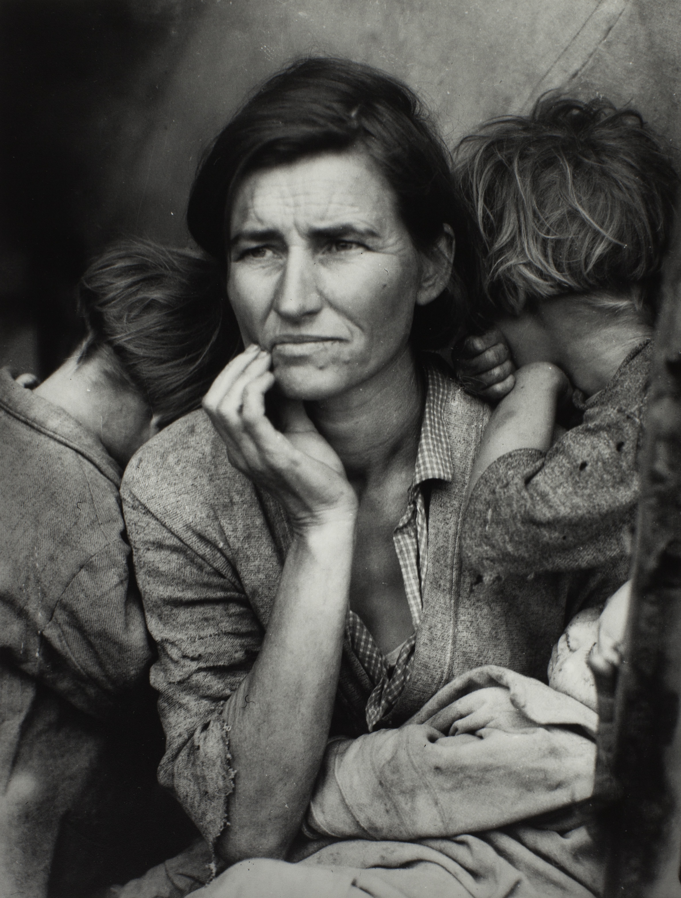 Dorothea Lange 1895-1965, Migrant Mother 1936,Photograph, gelatin silver print on paper,318 x 241 mm,The Sir Elton John Photography Collection.