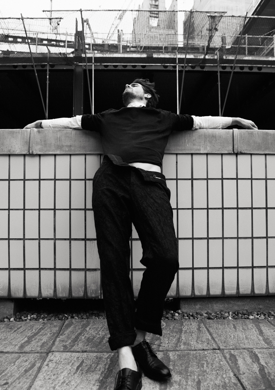 Shirt  Marchand Drapier, Black shirt  Zara,  Trousers  Damir Doma,  Shoes  Lanvin