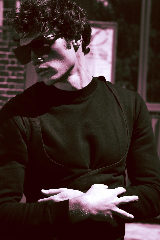 Sunglasses  Chanel ,Black Jumper Nasir Mazhar.