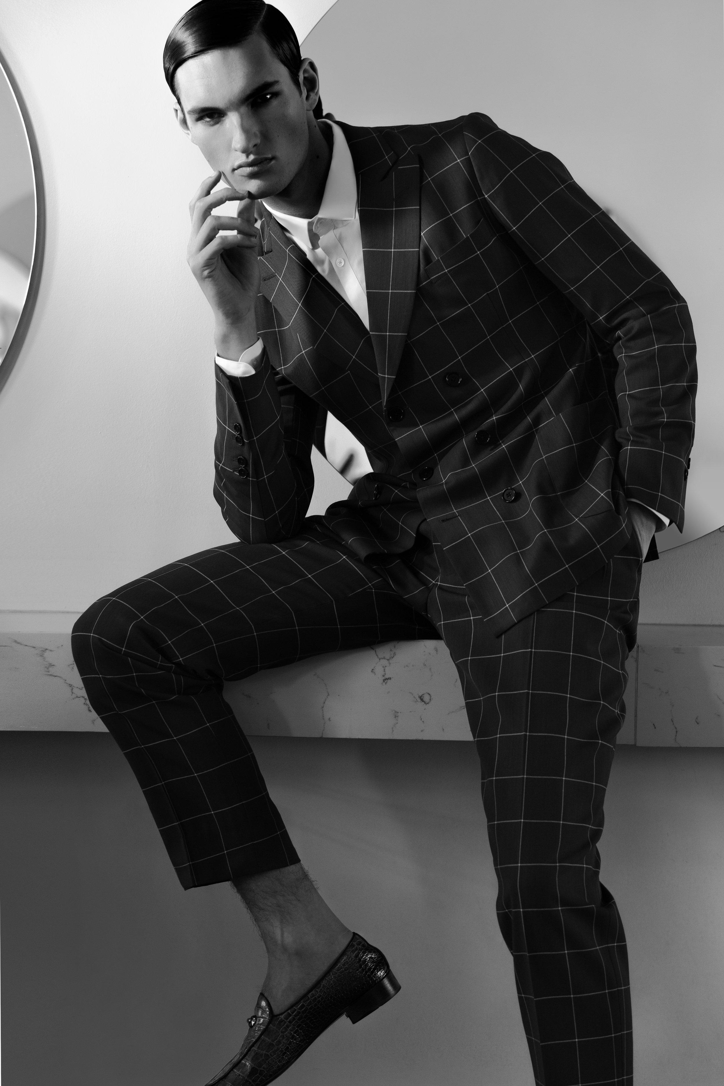 Suit  New & Lingwood , Shoes  Giuseppe Zanotti , Shirt  Topman .