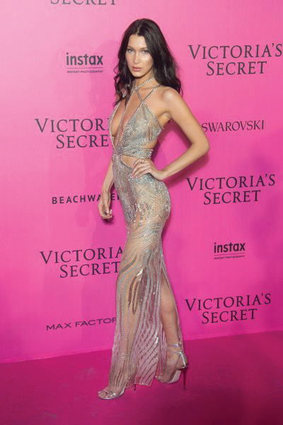 Bella Hadid at Victoria's Secret after party Wearing Julien Macdonald