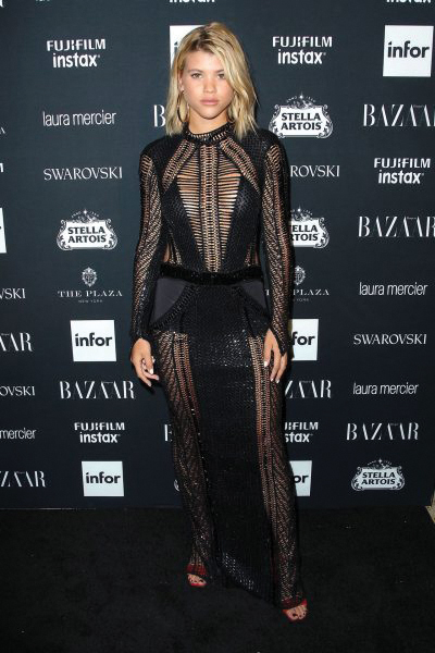 Sofia Richie At Harpers Bazaar Icons Party Wearing Julien Macdonald