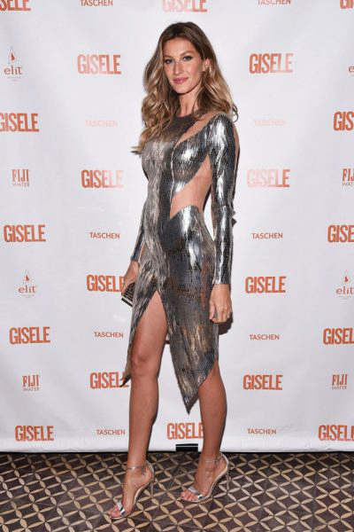 Gisele Bundchen at 'spring fling' book launch Wearing Julien Macdonald