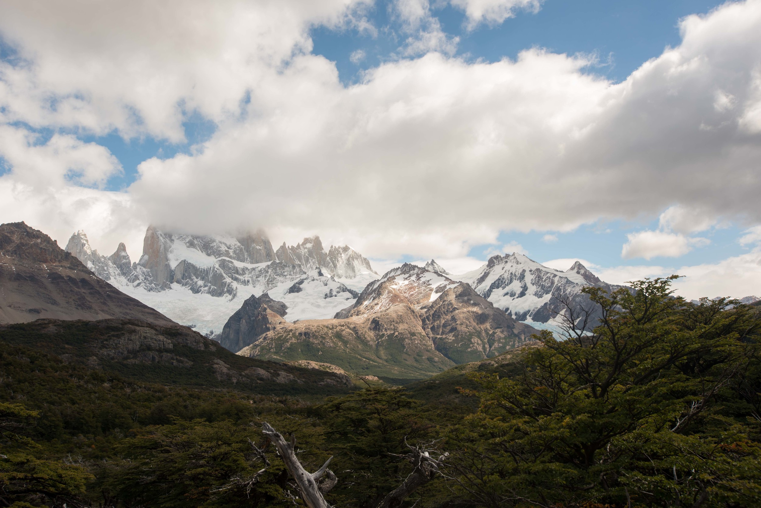 The cloudy Fitz Roy.