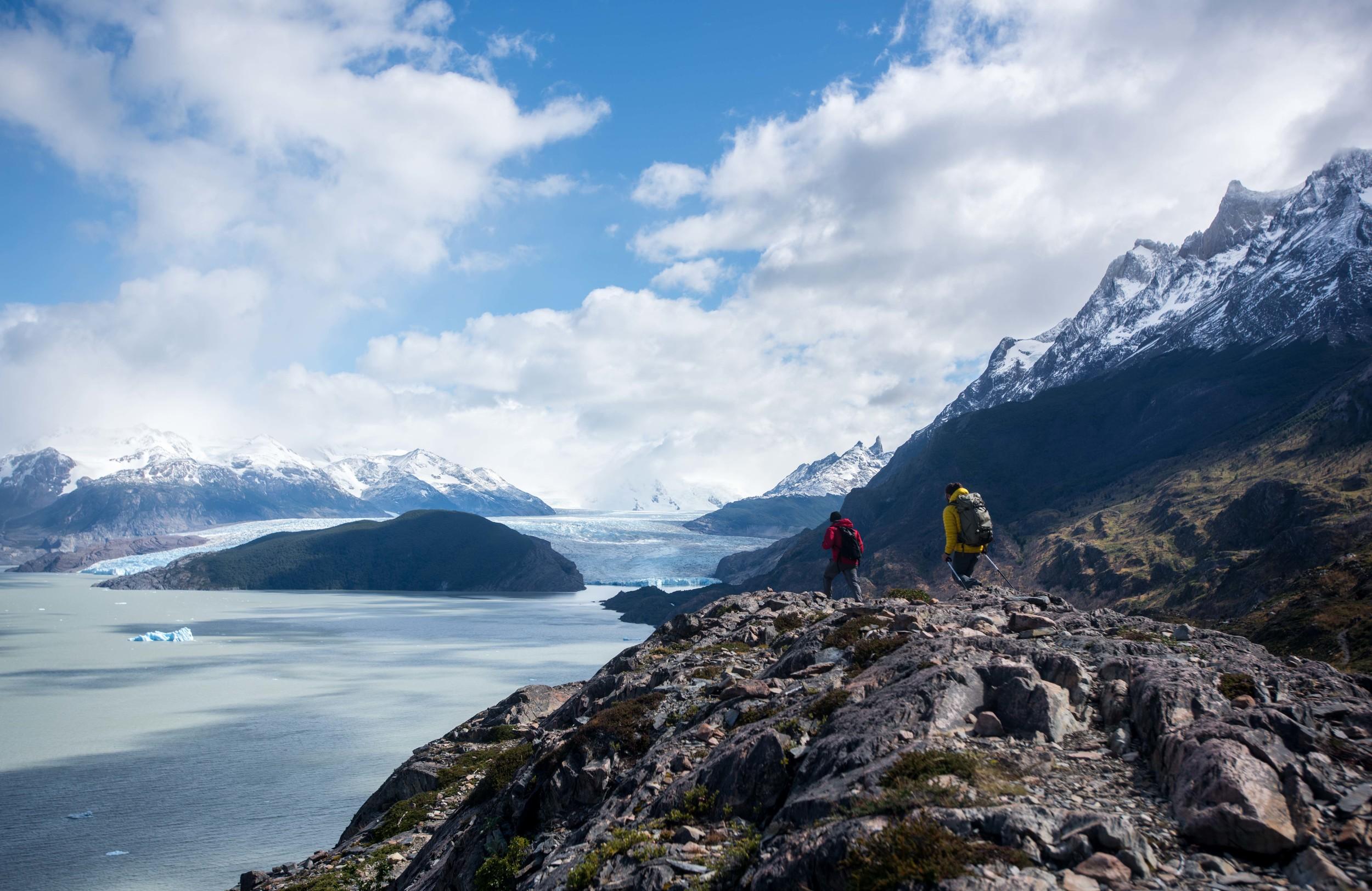 Overlooking the Grey Glacier.