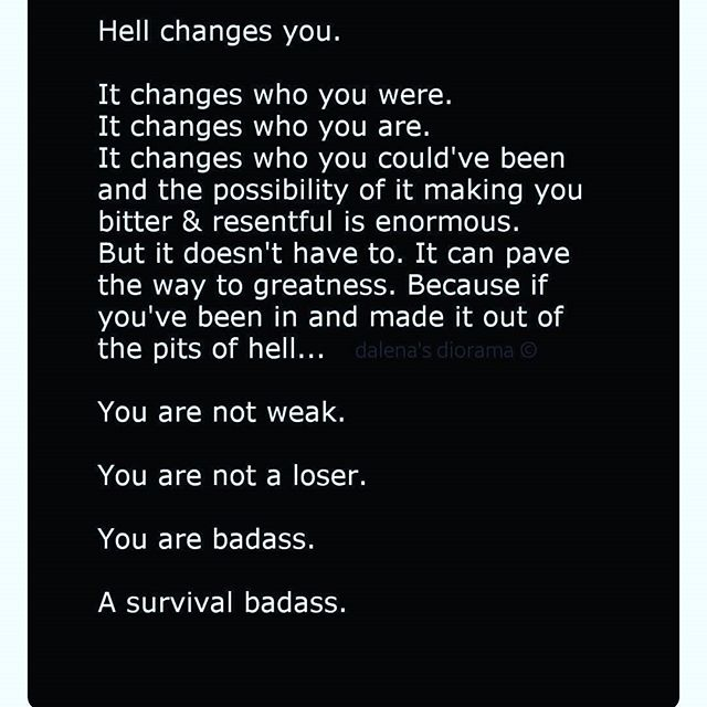 For anyone that has ever endured  the pain of Abuse, physical, emotional,sexual, we all share the journey of having known what its like to meet the demons of pain. Yet ,here you are a baddass warrior a survivor. Dont ever let someone belittle you or try and bring you down again.  You can face whatever adversity life throws at you and still thrive despite it all. #survivors  #sexualassaultawareness #healing #empoweringsurvivorstothrive  #healinghouseofjasmine
