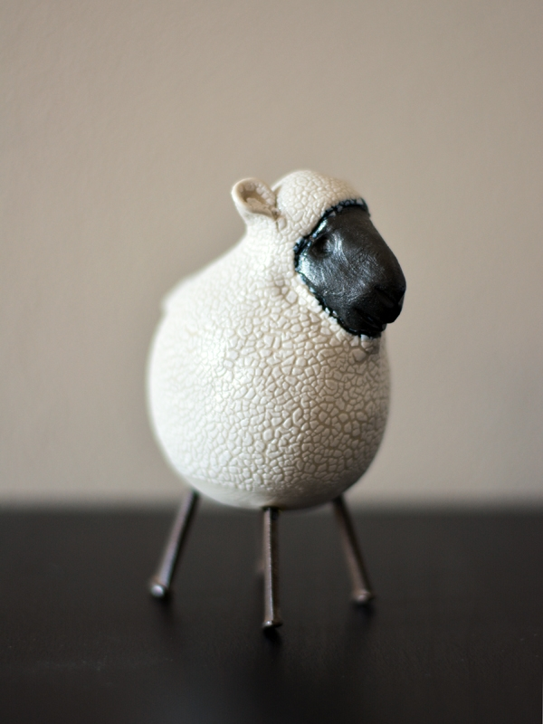 This little sheep sits on my desk simply because he makes me smile.