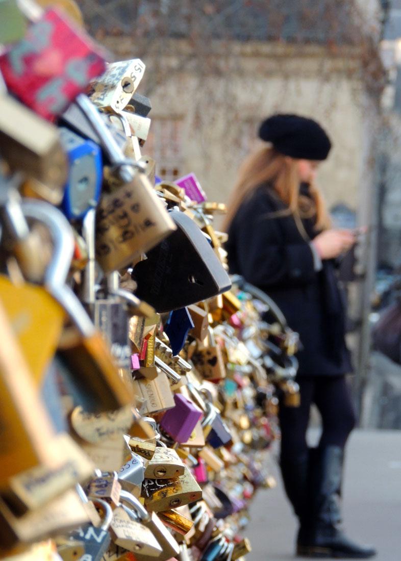"""Love Lock Bridge,"" Paris, France"