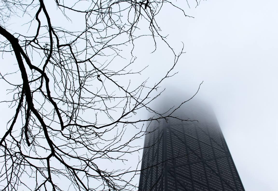 John Hancock Center in the clouds; April 2016