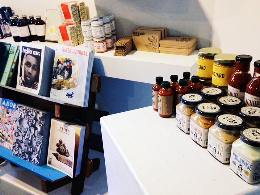 The Pop-up at Press Street in New Orleans included a selection of independent art and food magazines as well as a selection of packaged food from Brooklyn and Tokyo.
