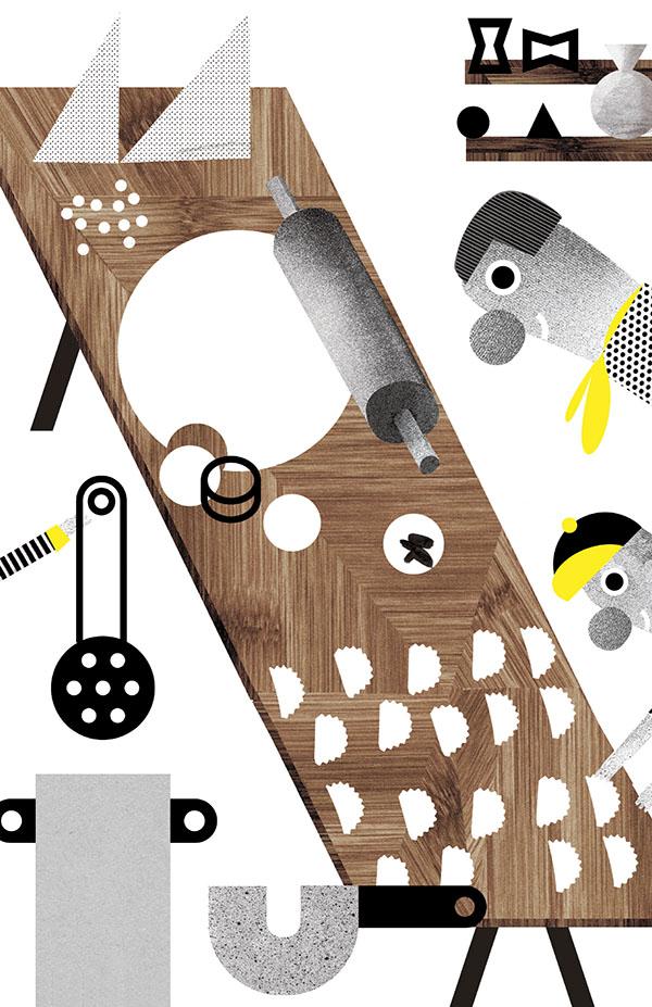 Issue #7, Making Pierogis by  Aleksandra Niepsuj .