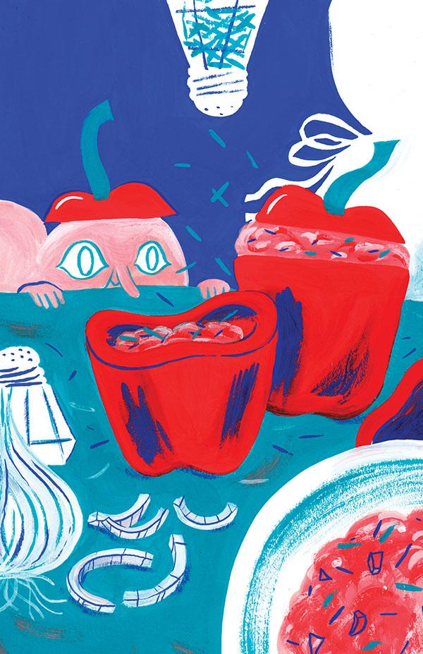 Issue #10,Grandma's Stuffed Bell Pepper by  Charlotte Dumortier .