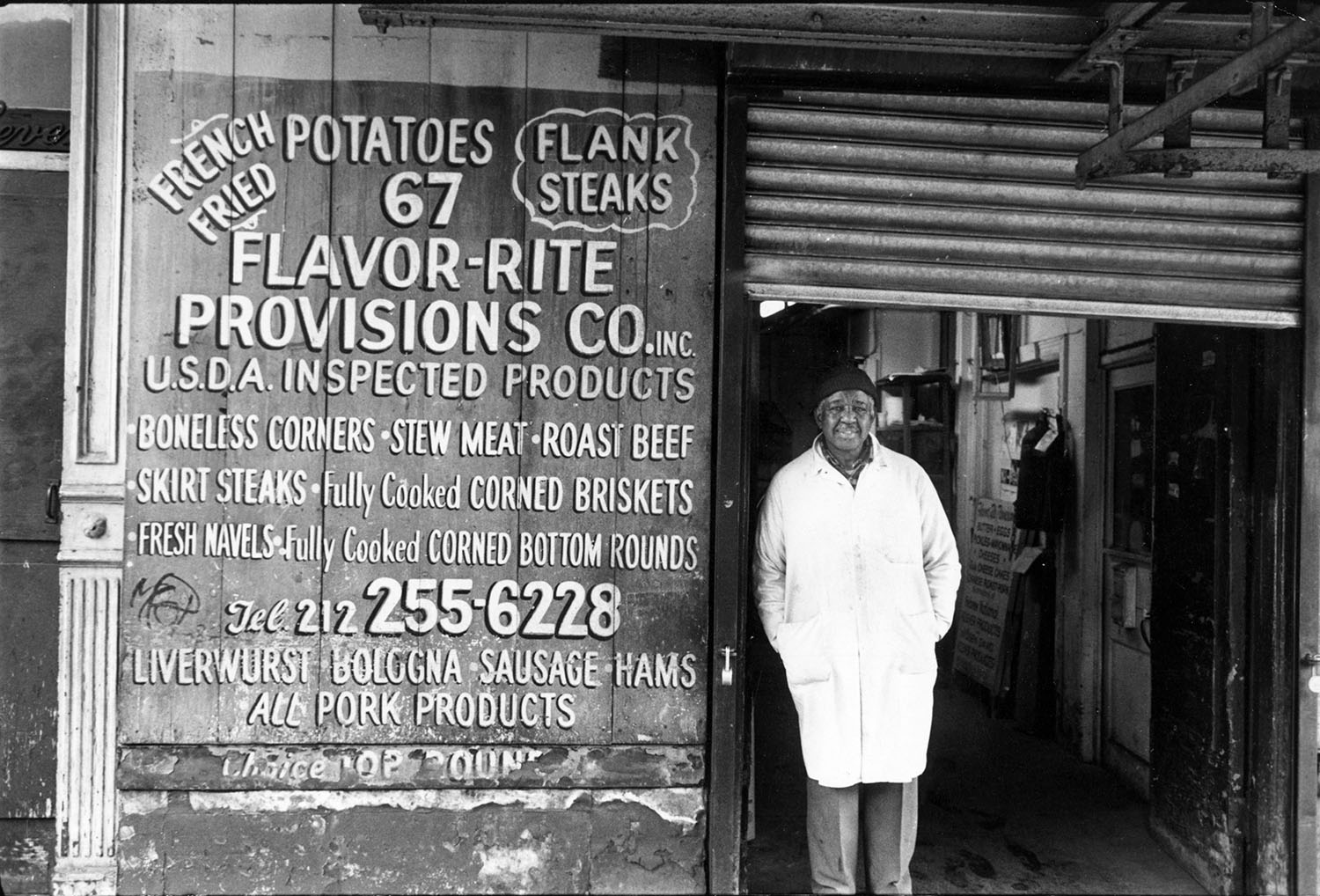 Florent was surrounded by Meat Packers. Flavor-Rite Provisions Co. was directly next  door to Florent at 67  Gansevoort Street .  Photo from the archives of Florent Morellet.