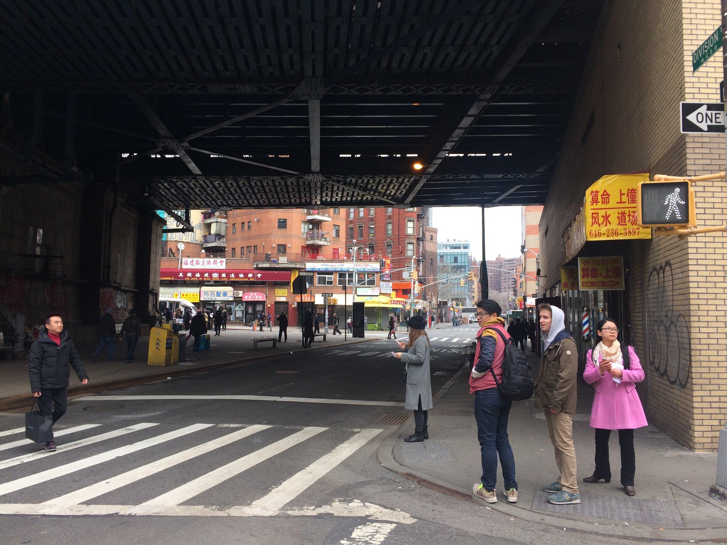 Division Street, under the Manhattan Bridge