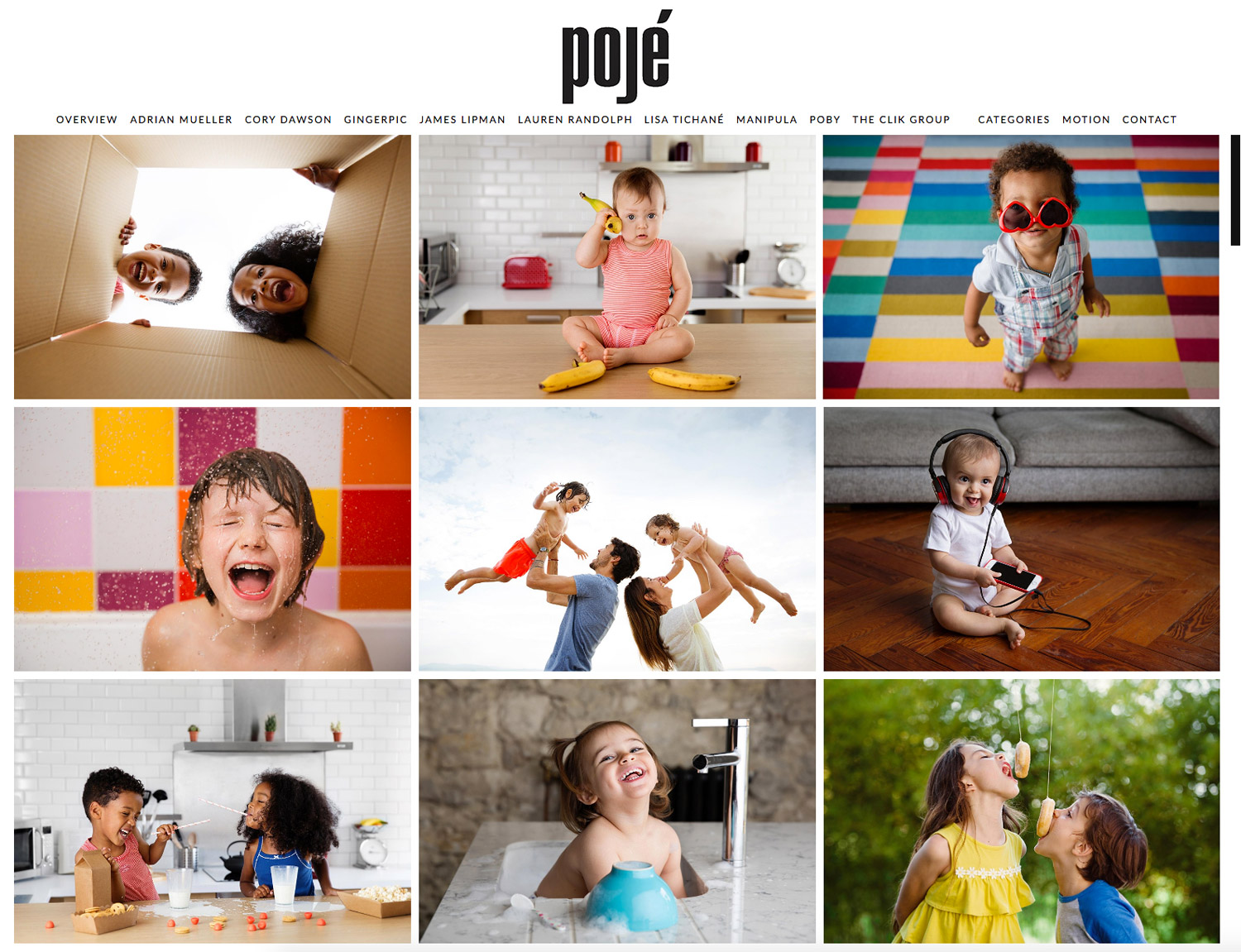 Lisa Tichané, commercial kids photographer, is represented by Elizabeth Pojé
