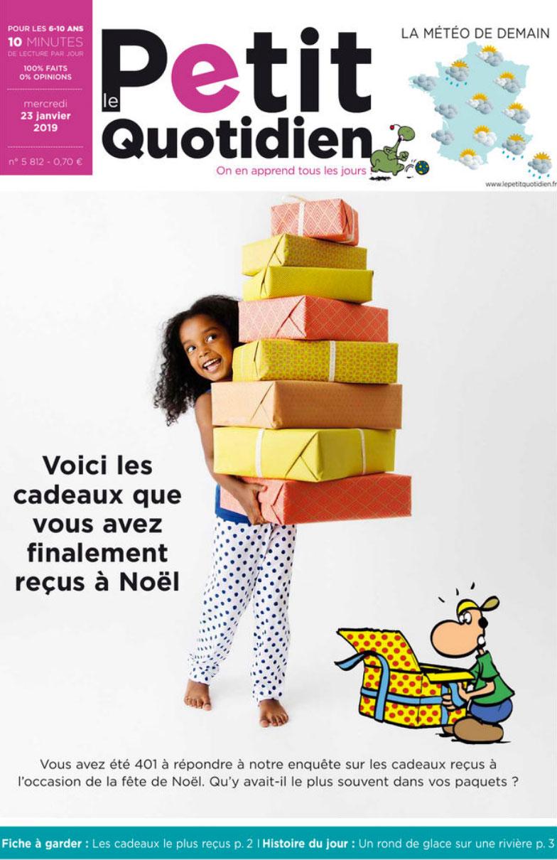 Photographie enfant pour la couverture du magazine Le Petit Quotidien par Lisa Tichané, photographe éditorial enfant et bébé