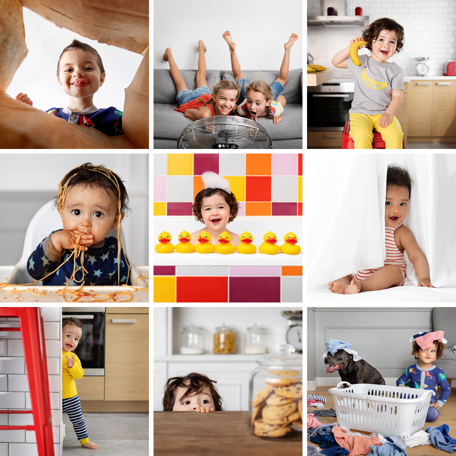 Fun baby and children images by Lisa Tichané, advertising kids and babies photographer