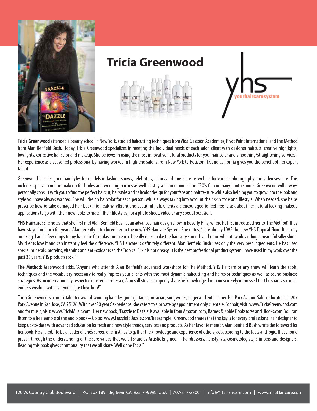 Tricia Greenwood Testimonials – YHS Haircare