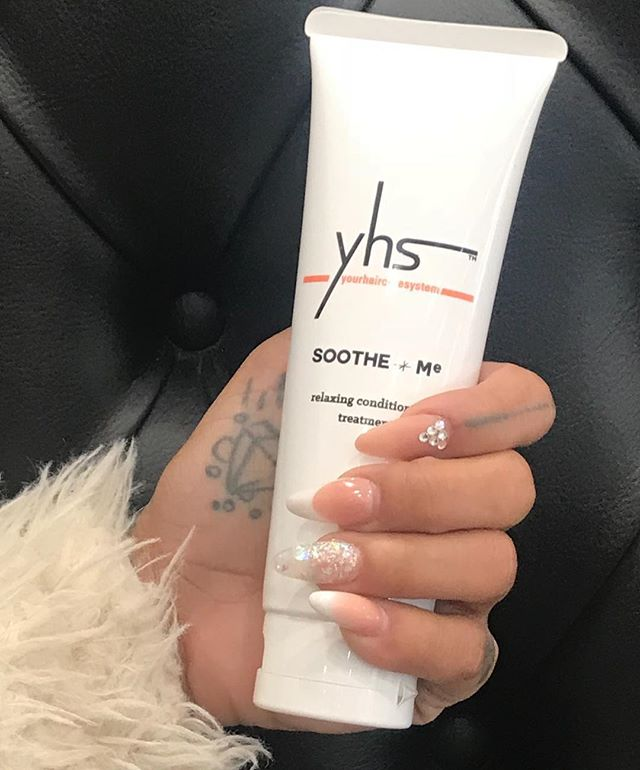 YHS Haircare... SOOTHE+Me  Provides unmatched shine and smoothness without excessive weight. Time released conditioners fight frizz and humidity. Thermal protection agents release when heated to prevent any damage from heat styling.  DIRECTIONS: Apply to clean hair. Leave on 1 to 3 minutes or longer for deep conditioning. Rinse thoroughly.🙌🏽🖤ONLY SOLD THROUGH HAIRDRESSERS - #SolaSalons #JustSayYHS #Solasalonsuites #haircare #hair #hairinspo #hairspiration #Hairstylist #Lifestyle #Luxury #Fashion #Instabeauty #PhenixSalonSuites #SalonSuites #Artist #LosAngeles #SocialMedia #SolaSalonStudios #BeautyBlogger #SalonOwner #IndependentStylist #HairFashion #Style #Instadaily #Fashionista #beauty #Hairdresser #PhotoSource #Pinterest #Beautiful