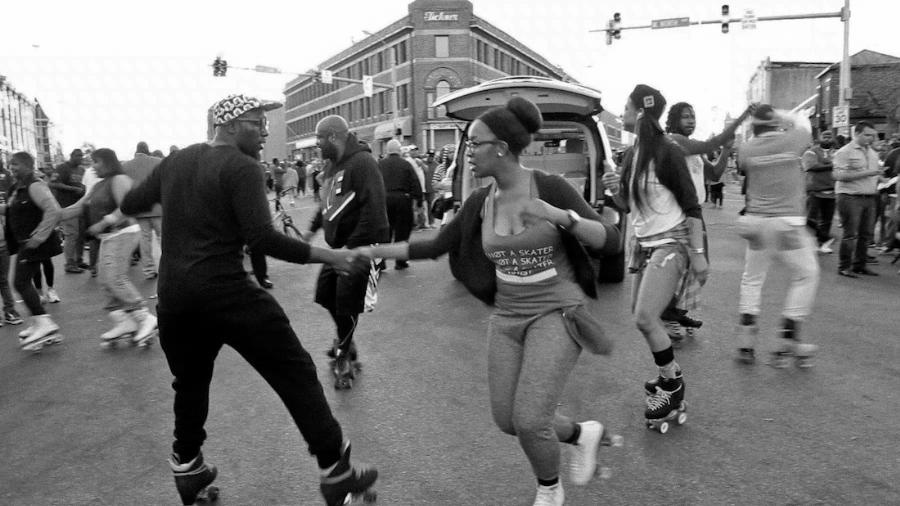 Meet Baltimore's Peacekeeping Rollerskaters
