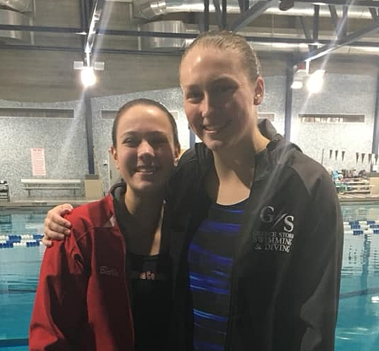 Bella and Alaina are the dynamic duo from Hilton and Greece. Bella placed 2nd at the Class A Section V Championships. Alaina is the 2018 Section V Class A Champion. Both girls qualified for the NYSPHSAA Championships!