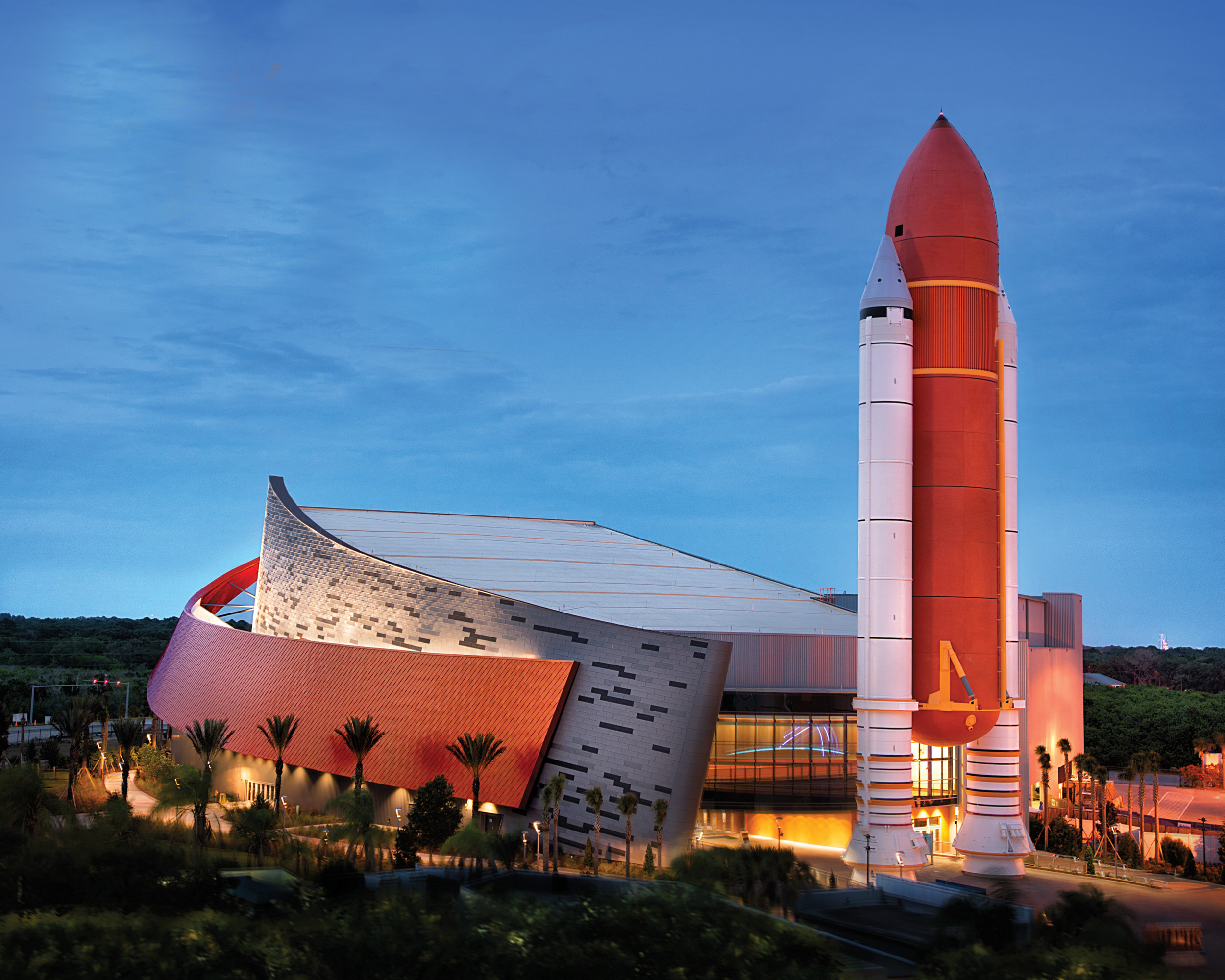 Home of Atlantis Museum, Full-scale Replica Shuttle Stack Kennedy Space Center, FL
