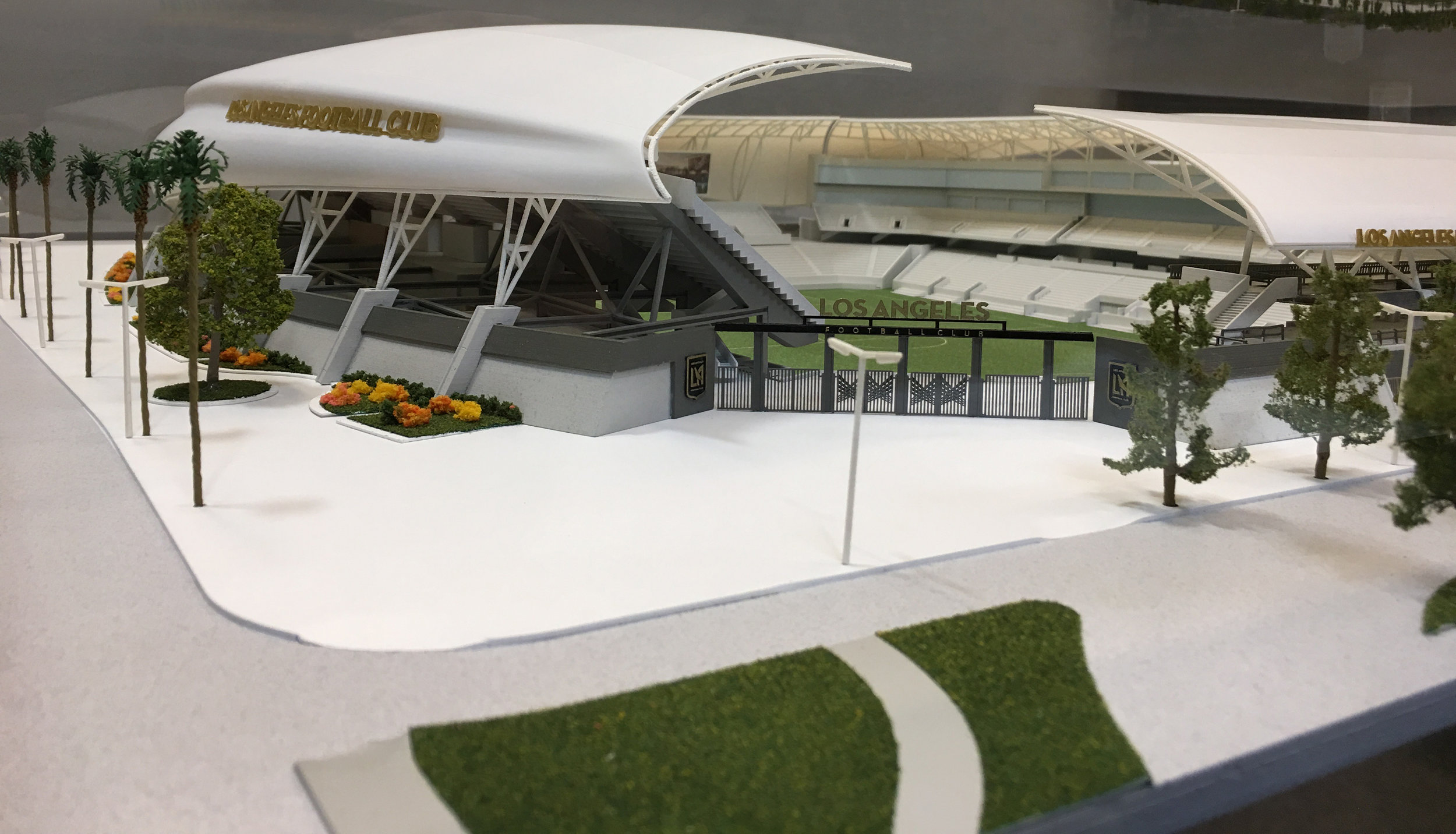 LAFC Banc of California Stadium - Scaled Architectural Model