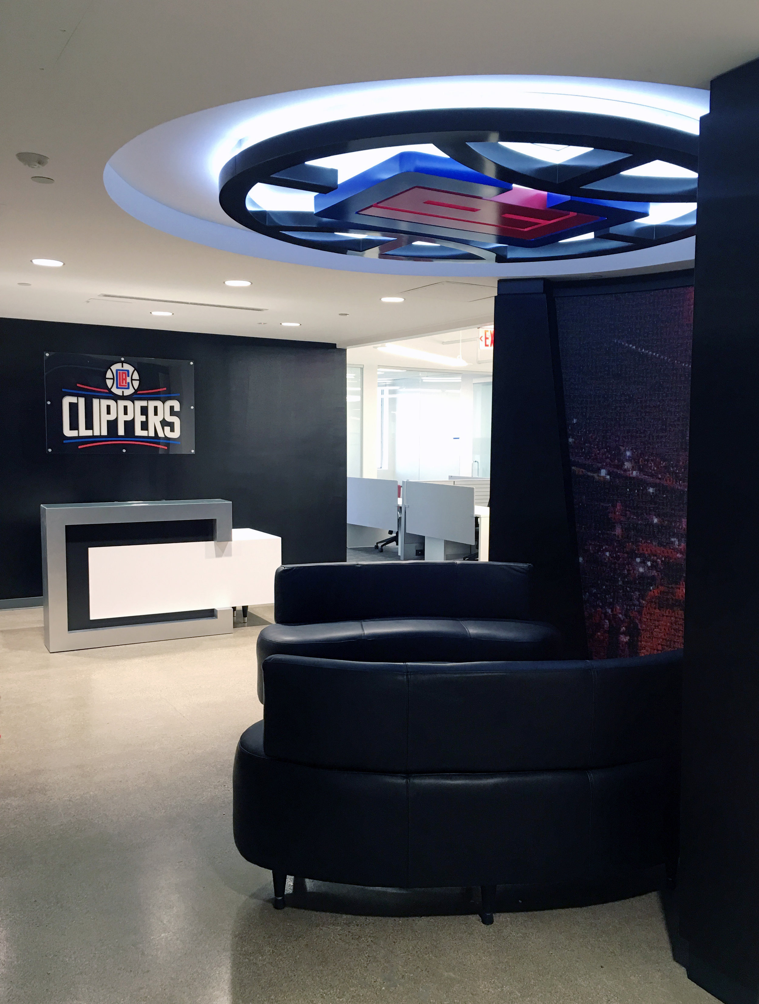 LA Clipper Corporate Office Reception Area