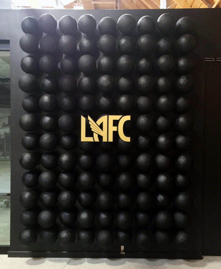 LAFC Photo-Op Soccer Ball Wall