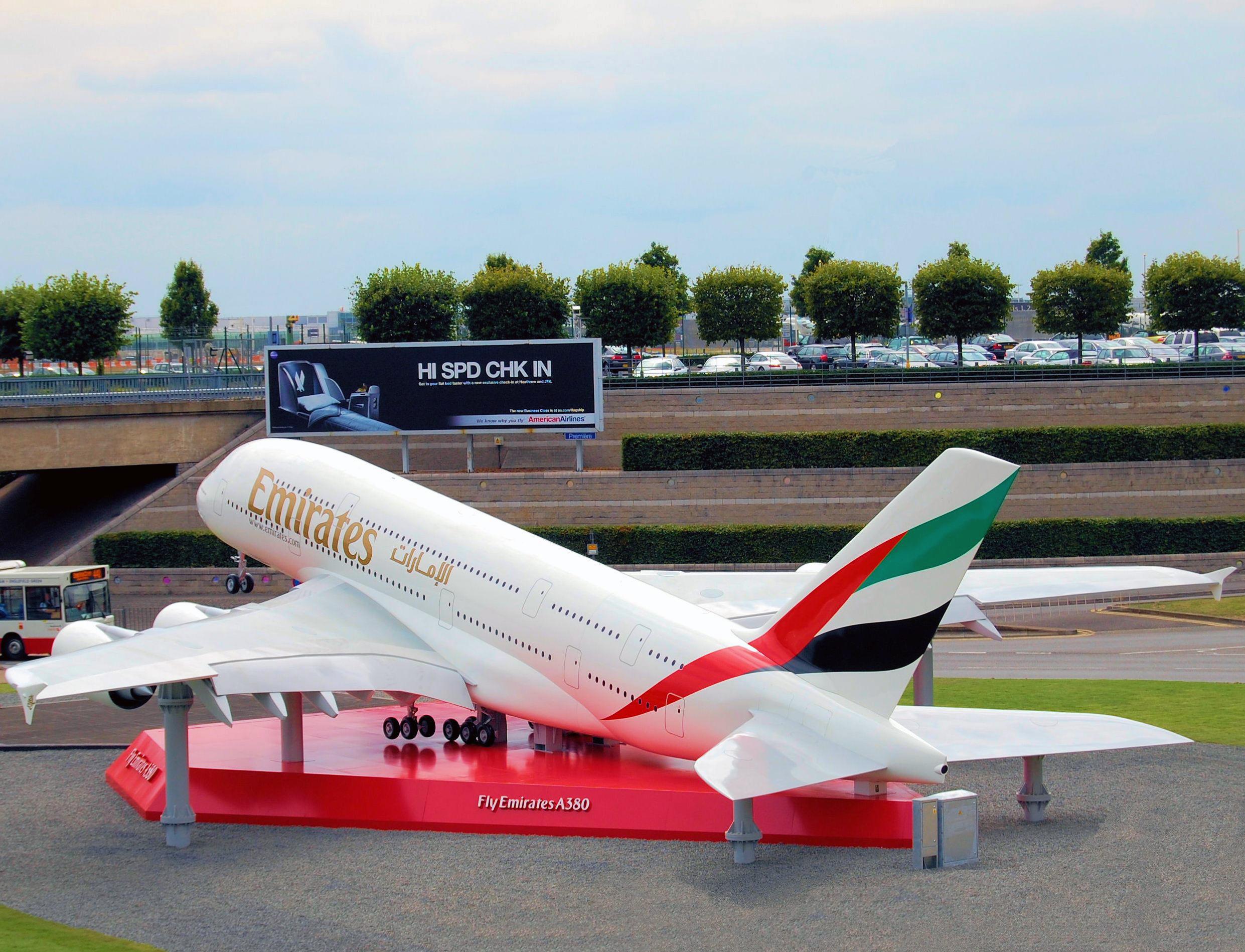Airbus A380, 1:3 Scale Display (80' wingspan) London Heathrow Airport