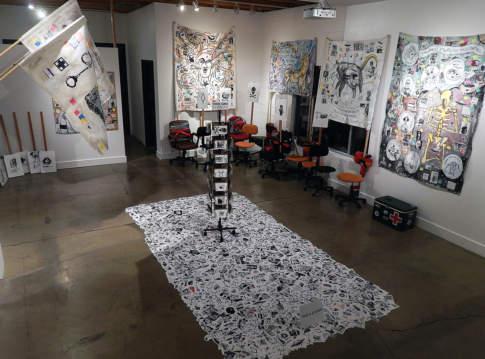 Installation view at the Cube Gallery (Las Vegas 2018) (Adam Turl)