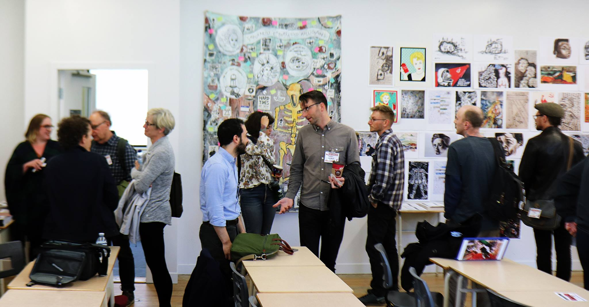 Red Wedge  art display at Historical Materialism Montreal (2018)