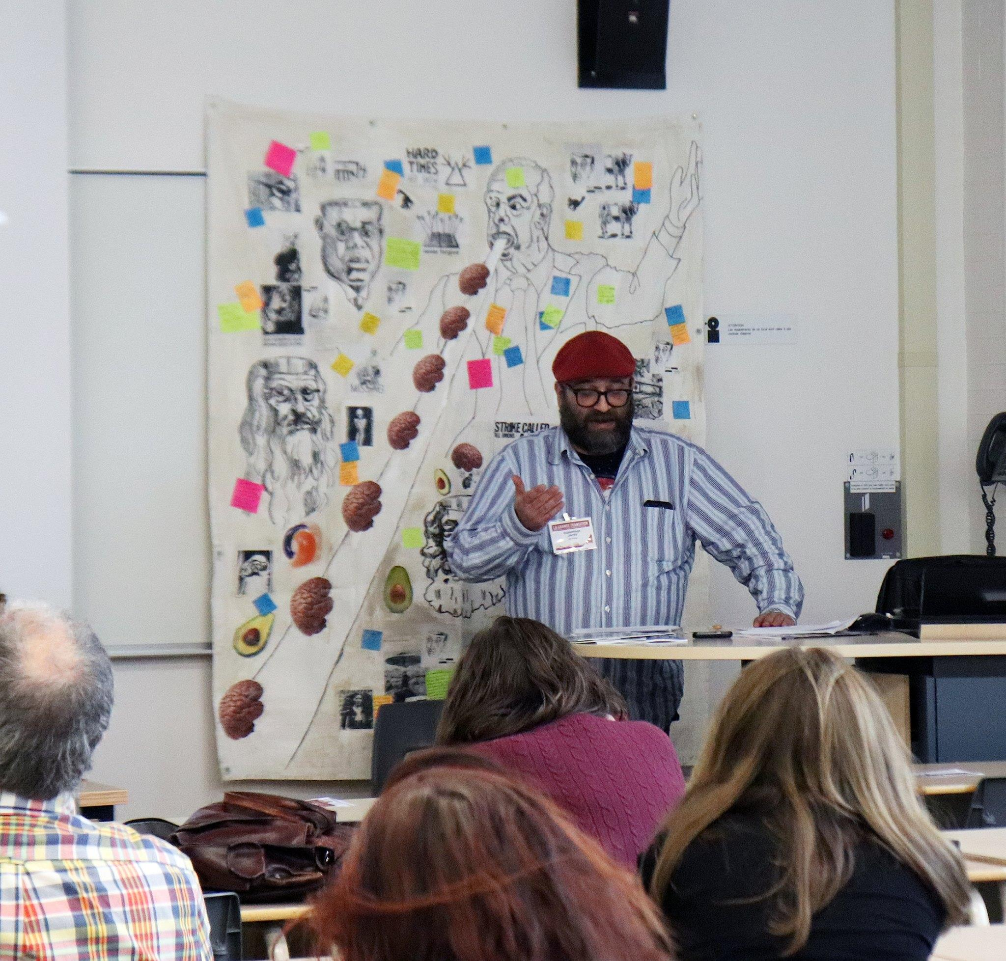 Jordy Cummings speaking at Historical Materialism Montreal (2018)