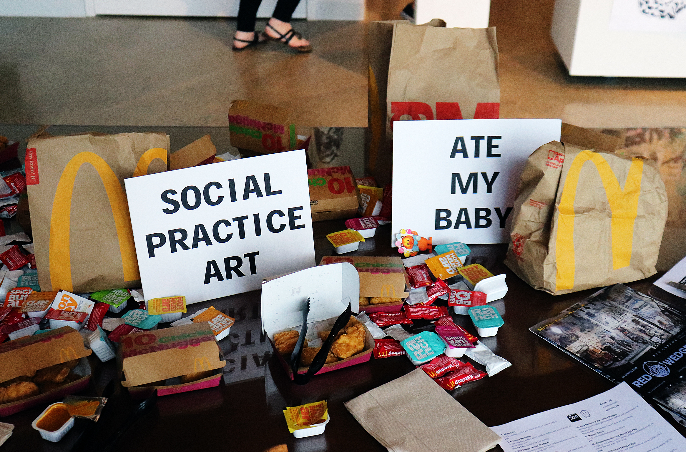 Social Practice Art Ate My Baby  (Artspace 304) (2018). (Adam Turl)